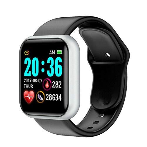 XUEXIU Smart Watch Mujeres Hombres Pulsera Inteligente Presión Corazón Presión Fitness Relogio Intelige Horas para Andriod iPhone (Color : Black B, Size : Carton Box)