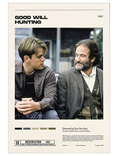 Nirvan Good Will Hunting Matt Damon Robin Williams Drama Film Poster 18x24 Inch