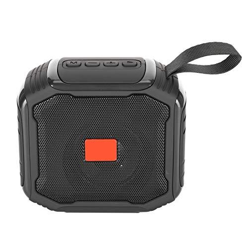 Lazmin112 Altavoz Bluetooth inalámbrico, Altavoz portátil de Audio de Graves de 3 W, Radio FM, Inserción de Tarjeta de Soporte, Unidad Flash USB, TWS, Llamada, Teléfono de Soporte/Laptop/Tablet PC