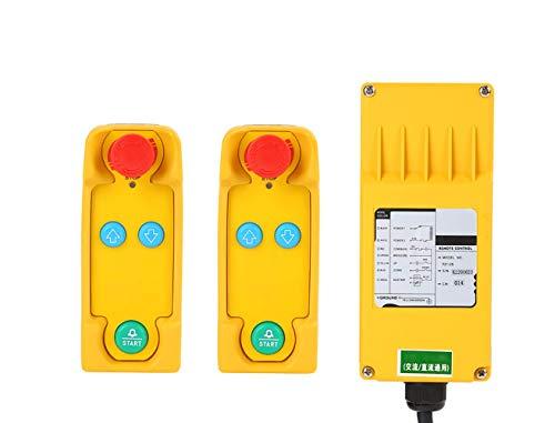 MXBAOHENG PF21-2S - Grúa de control remoto para radio industrial (2 transmisores y 1 receptor), 380V