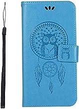 جرابات KINGCOM - جراب محفظة Biencaso Owl لهاتف Lenovo Vibe P1 P1M P2 A2010 K6 Note Power K3 A6000 A7010 K5 K8 Note سيليكون Fundas B183 (أزرق لهاتف i7 Plus i8 Plus)