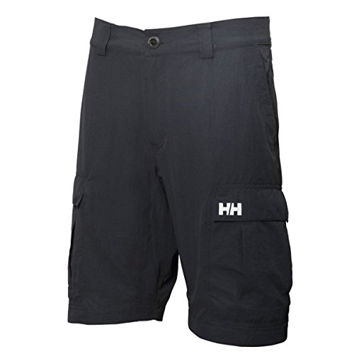 Helly Hansen - Hh Qd Cargo Short Homme - Gris (Ebony/Wasabi/Light Grey) - 33