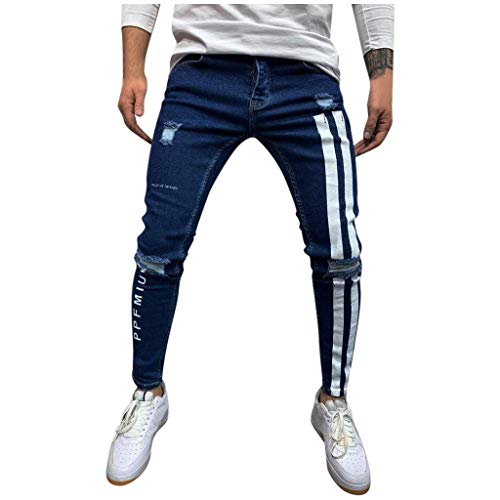 Pantalon Homme Slim Rayé Impression Pantalon Jogging Bas de Survêtement Sweat Pants Sarouel Sport Slim Pantalon de Travail Pantalons en Jean Pants Jogger S- XXXL Bluestercool