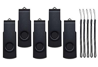 Kepmem 5 Pack 2GB/4GB/8GB/16GB/32GB USB 2.0 Flash Drive Memory Stick Fashion Swivel Thumb Pen Drive Gift from Kepmem