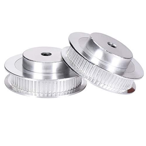 PoPprint GT2-6mm Zahnriemen 60 teeth Board 8mm Aluminium Riemenscheibe für Breite 6 mm GT2 Riemen (2 Stück) (60 Zähne Bohrung 8 mm)