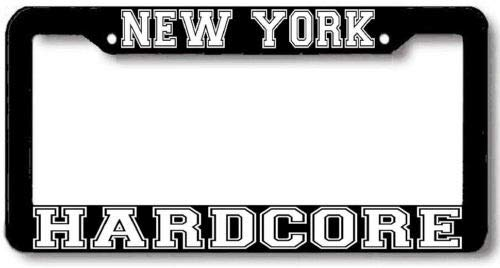 New York Hardcore Nyhc License Plate Frame Auto Car Novelty Accessories License Plate Art