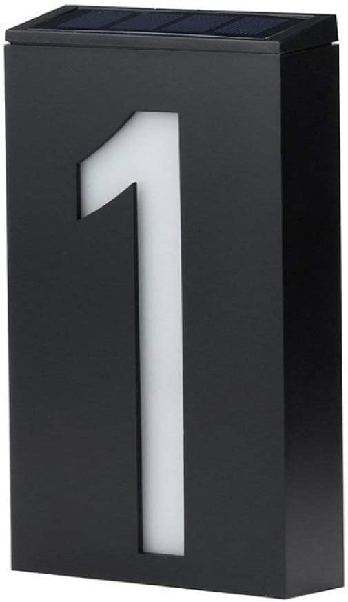 Selling and selling C H 3D Floating Led excellence Solar Illuminated Number Plaque House Light