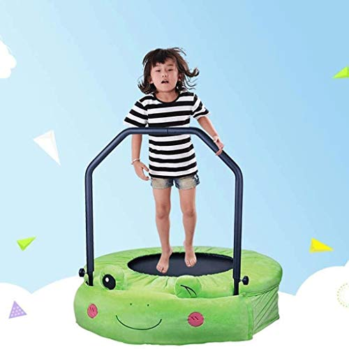 YDHWY Trampolines 38 Inches Cute Folding fitness for Kids Mini Toddler Trampoline with Handle. Baby Indoor Jumping Toy