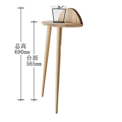 LLLXUHA Bois Massif Bord de Table Type de Plancher Support de Fleurs, intérieur Salon Étagère de Rangement, Balcon Succulentes Présentoir, Primary Color, 40 * 69cm