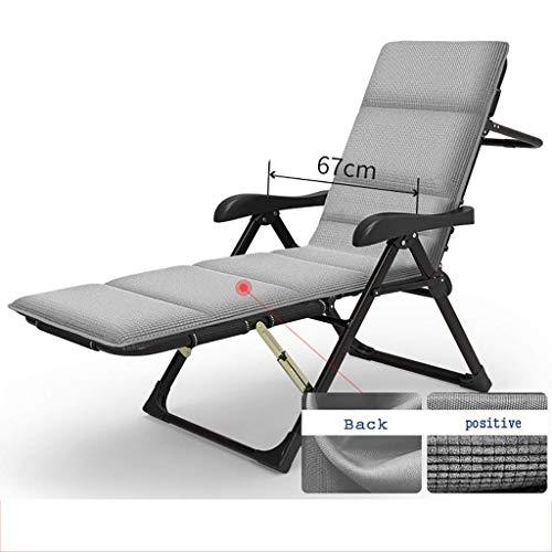 WGFGXQ Mecedora Sillón de Lujo Plegable con Respaldo Ajustable, Estructura de Metal, sillón de colchón Suave (Color: C)