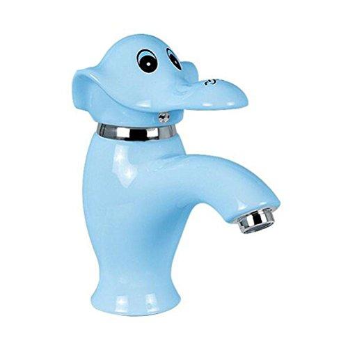 P.CHUXIN Keuken Badkamer Kraan Basin Mixer Tap Kind Warm en Koud Water Keramiek Cartoon Vorm blue Blauw