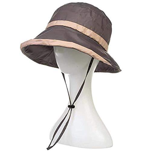 CYHWDHW Hoed topper opvouwbaar, zomer outdoor fiets cap/visser hoed/strand hoed/travel cap (kleur: grijs)