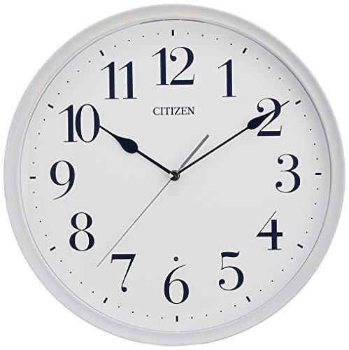 リズム(RHYTHM) 置き時計・掛け時計 青 Φ28.3x5.2cm シチズン 電波 アナログ 連続秒針 小さい タイプ 丸型 木 8MY528-004
