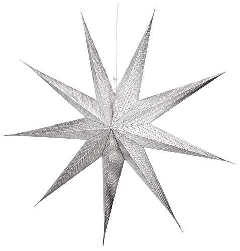 Konstsmide Estrella de papel, plata