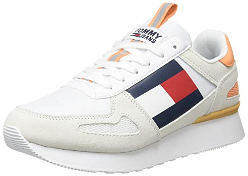 Tommy Hilfiger Wmns Lifestyle Runner, Zapatillas Mujer, Blanco (White Ybs), 39 EU