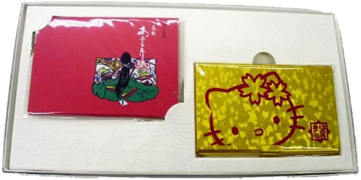 35th Anniversary Hello Kitty Oil Blotting Paper (with Aluminum Case) A gold (japan import)