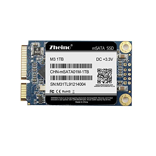 Zheino mSATA 1TB Mini SATAIII SSD 3D Nand interne Solid State Drive für Notebooks Tablets PC