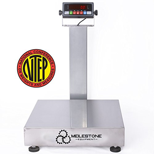 Heavy-Duty Industrial 250x0.05LB 18x18 inches Carbon Steel NTEP Legal for Trade Bench Scale/Shipping Scale/Recycling Scale/Best Postal Scale/Scale for Packages Tabletop