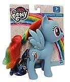 Hasbro My Little Pony E6849 Rainbow Dash - Figura de juguete con pelo peinable y peine, 15 cm, para niños