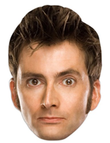 Star Cutouts Bedruckte Gesichtsmaske DER Tenth Doctor