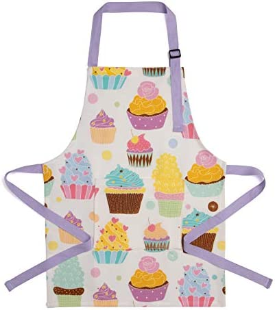 UNICA Toddler Apron with Pocket for Everyday Use Durable Polyester Chef Apron for Toddler Girls product image