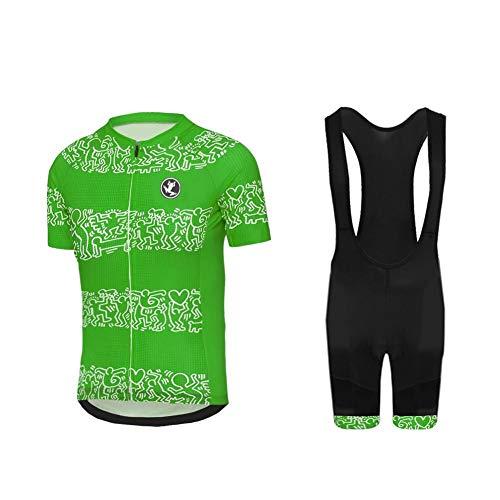 Uglyfrog Hombres Jersey + Pantalones Cortos Mangas Cortas de Ciclismo Ropa Maillot Transpirable para Deportes al Aire Libre Ciclo Bicicleta DXML05