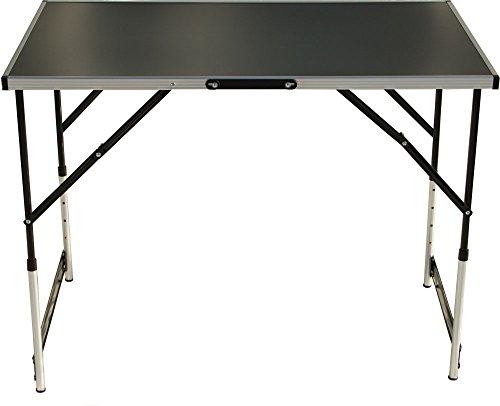Mehrzwecktisch 1-teilig höhenverstellbar 100x60 cm, Stahlgestell, MDF-Platte, Tapeziertisch, Arbeitstisch, Klapptisch