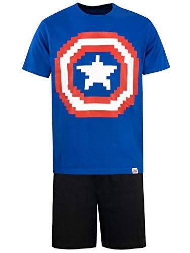 Marvel Pijama para Hombre Captain America Azul Size Large