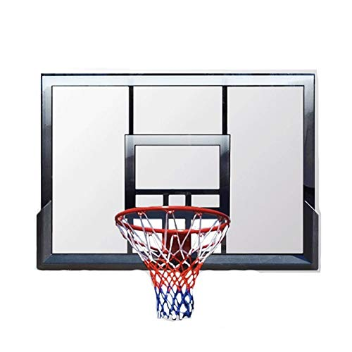Lamyanran Canasta Baloncesto Pared Sistema al Aire Libre montado en la Pared Baloncesto, Juego de Baloncesto de Inicio, Tablero de PC Transparente, Textura Ligera, Resistente a los choques, Duradero