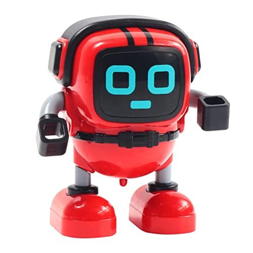WBTY DIY Robot Gyro Toy Mini Robot Pull Back Inercia Spinning Top Puzzle Robot Educación Temprana Juguete Niños El Brazo Puede Moverse Paseo Niños Niños Niños Regalos De Cumpleaños