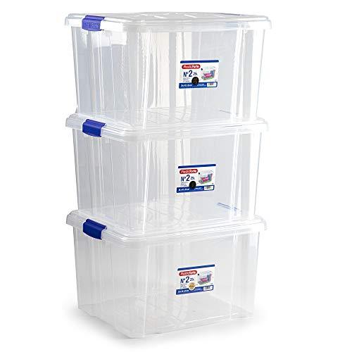 Plastic Forte Pack 3 Caja Nº 2 Pack 3 Cajas, plásrico, 25 litros