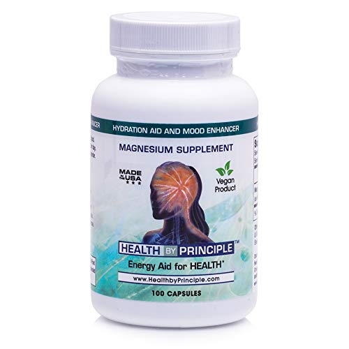 Magnesium Supplement with Glycinate, Citrate, Taurate & Malate – for Deeper Sleep, Rapid Muscle Recovery, Stress & Anxiety Support – for Women & Men – Vegan & Keto Friendly – 100 Veggie Capsules