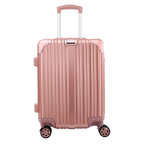 Adlereyire Trolley Suitcase Lightweight Durable Carry On Cabin Hand Luggage Set, Travel Bag with 4 Wheels (Color : Rose-gold, Size : 36 * 22 * 55cm)