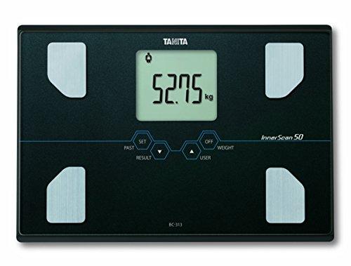 Tanita BC-313 Analizador de la composición corporal con pesaje de precisión ultra de 50 g, color negro