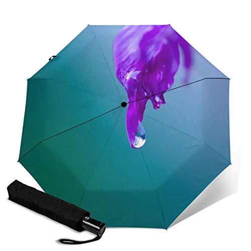 Drop Focus,Sun & Rain Travel Umbrella - Lightweight Compact Umbrella with UV Protection for Men and Women Multiple Colors