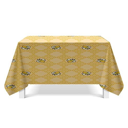 YDyun Tovaglia Antimacchia Tablecloth Tovaglia da Pranzo Linen Cotton Mappa della Trama del Petalo