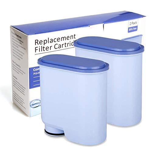 Wasserfilter für Saeco und Philips Kaffeevollautomaten, Kalkschutz CA6903 AquaClean Wasserfilter Ersatz AquaClean Filter für Philips und Saeco AquaClean CA6903/22/10/01/00 (2 Stück)