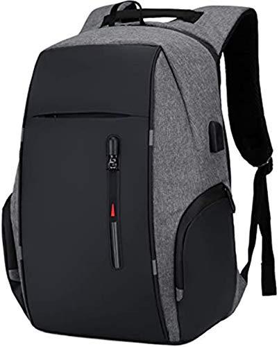 I IHAYNER Laptop Rucksack Womens Mens Bags USB-Ladeanschluss Work Travel Canvas 15,6 Zoll schwarz