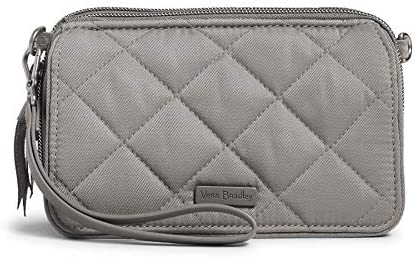 Vera Bradley Performance Twill All in One Crossbody Purse with RFID Protection Tranquil Gray product image