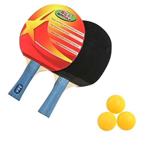 Lowest Prices! NYGSTORE Ping Pong Paddle Set,Indoor 2 Player Professional Table Tennis Racket 2PCS P...