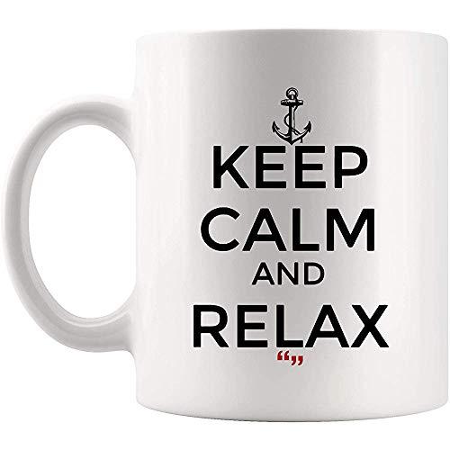 Taza de café saludable para relajar la vida relajante, taza de café | Inspiracional taza de cerveza inspiradora inspiradora inspiradora broma gag regalo de sarcasmo, 11 oz (330 ml)