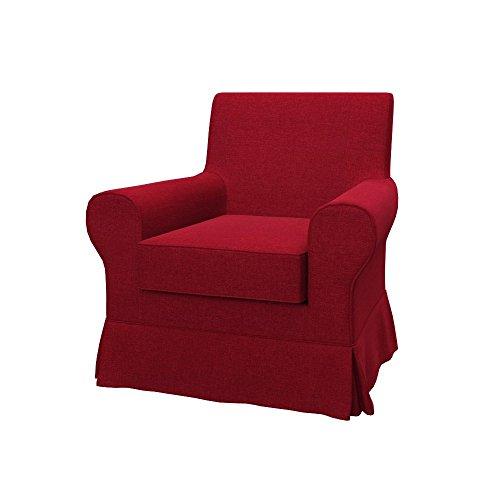 Soferia Funda de Repuesto para IKEA EKTORP JENNYLUND sillón, Tela Classic Red, Roja