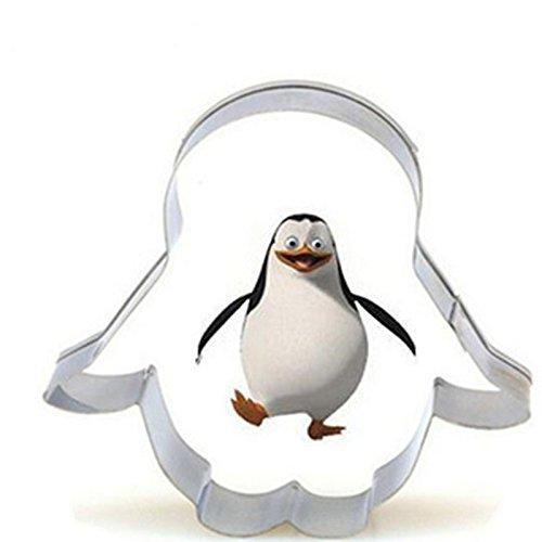 dylandy 2x Cookie Cutter Pinguin Kuchen Cookie Cutter Form Edelstahl Cookie Kekse Kuchen Zucker Gebäck Backform Kuchen dekorieren Tools