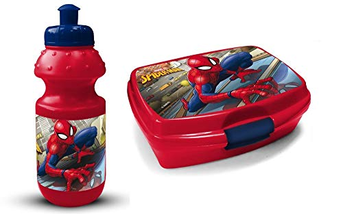xx Spiderman Brotdose + Trinkflasche - Lunchbox + Bottle 59709