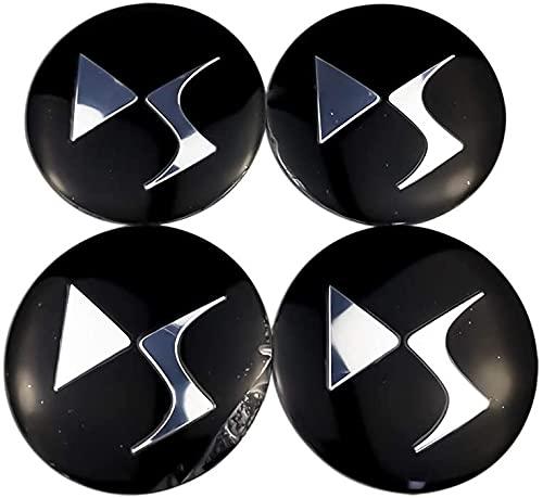 4 Piezas Tapas Centrales Tapacubos para Citroen DS3 DS4 DS6 C2 C3...