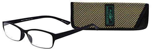 Select-A-Vision Flex 2 Lightweight Flexible Rectangular Readers, Black, 2.00