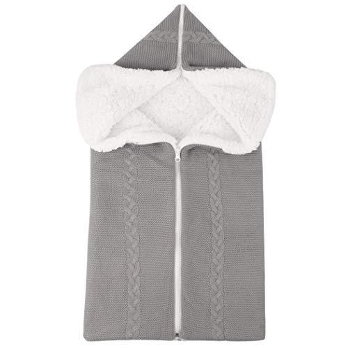 COSYOO Saco de Dormir de Felpa para Niños Cremallera de Punto Cálido Abrigo Suave para Dormir Manta Manta Bolsa Del Empavesado