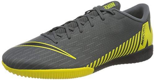 Nike Herren Vaporx 12 Academy IC Fußballschuhe, Grau (Dark Grey/Black-Opti Yellow 070), 44 EU