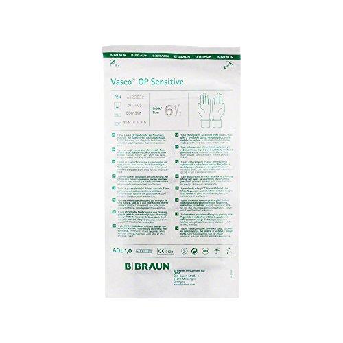 VASCO OP-Handschuhe Sensitiv PF, Naturlatex, steril Gr. 6,5