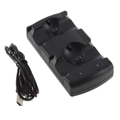 Ba30DEllylelly 2 en 1 USB Powered Dual Charging Game Station Cargador Soporte Base de Montaje para Controlador PS3
